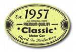 Distressed Aged Established 1957 Aged To Perfection Oval Design For Classic Car External Vinyl Car Sticker 120x80mm